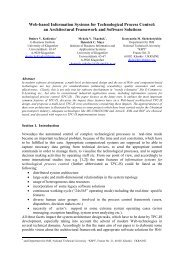 Web-based Information Systems for Technological Process Control ...