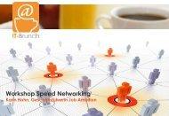 Workshop Speed-Networking - IT-Brunch