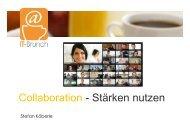 Collaboration - Stärken nutzen - IT-Brunch
