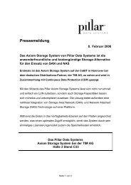 Das Axiom Storage System von Pillar Data Systems ist ... - IT-Business