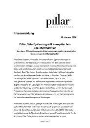 Pillar Data Systems greift europäischen Speichermarkt ... - IT-Business