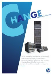 HP Networking Product Guide - Comztek