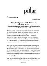 Pillar Data Systems stärkt Präsenz in der DACH-Region - IT-Business