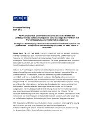 PGP Corporation und Fidelis Security Systems bieten ... - IT-Business