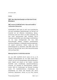 EMC: Neue Speicherlösungen und Services für den ... - IT-Business