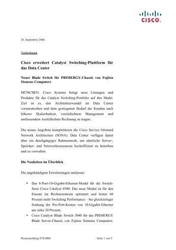 Cisco erweitert Catalyst Switching-Plattform für das ... - IT-Business