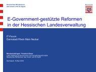 E-Government-gestützte Reformen in der Hessischen ...