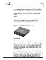 Cisco SD2008 8-Port 10/100/1000 Gigabit Switch (German) - IT-Event