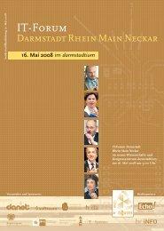 16. Mai 2008 - IT-Forum Darmstadt Rhein Main Neckar