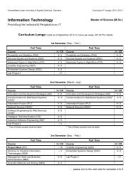 Curriculum Lemgo - Master of Science (M.Sc.) Information Technology
