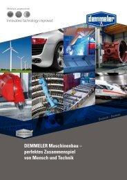PDF ( 7.05 MB) - Demmeler Maschinenbau GmbH & Co. KG