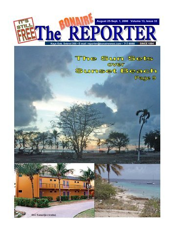 August 25-Sept. 1, 2006 Volume 13, Issue 33 - The Bonaire Reporter