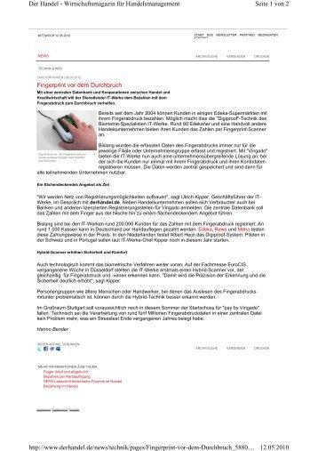 Seite 1 von 2 Der Handel - Wirtschaftsmagazin für ... - it-werke