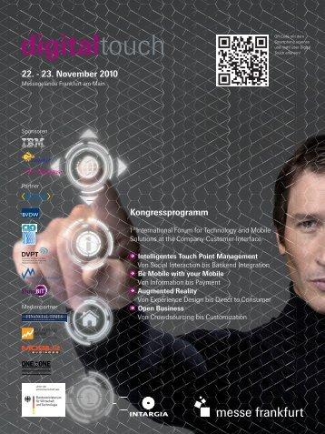 Kongressprogramm 22. - 23. November 2010 - it-werke