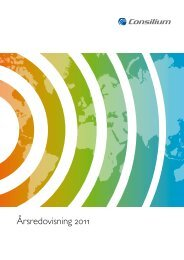 Årsredovisning 2011 - Consilium