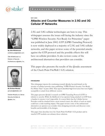 Attacks and Counter Measures in 2.5G and 3G Cellular IP Networks