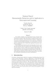 Seminar Report Dimensionality Reduction and its ... - KReSIT