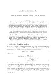 Conditional Random Fields - KReSIT