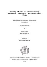 Training, Inference and Imprecise Storage Methods for Collections ...
