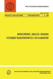 modelowanie, analiza i badania systemów transportowych i ich ...