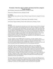 Evaluation of decision support modules and human interfaces using ...