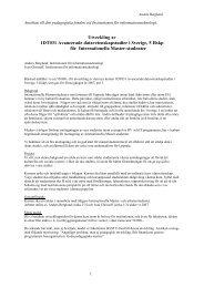 Ansökan - Institutionen för informationsteknologi