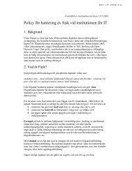 Policy för hantering av fusk vid institutionen för IT