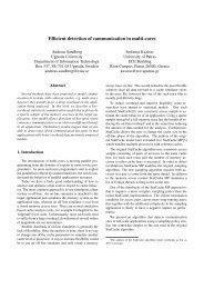 Efficient detection of communication in multi-cores - DiVA