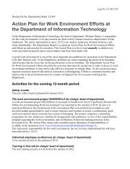 Plan of action for our work environment