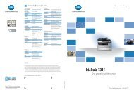 Broschüre bizhub 131 F - ITA-Copysysteme