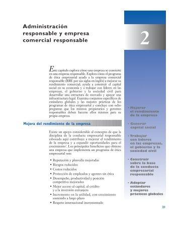 Administración responsable y empresa comercial responsable