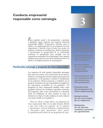 Conducta empresarial responsable como estrategia