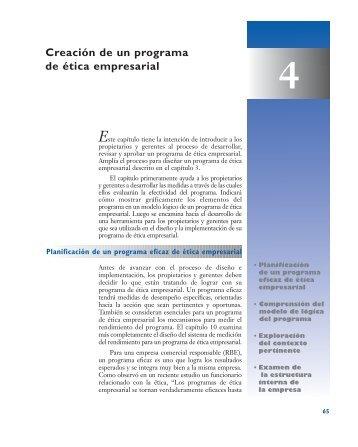Creación de un programa de ética empresarial