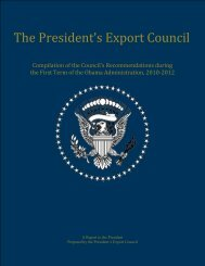 The President's Export Council - International Trade Administration