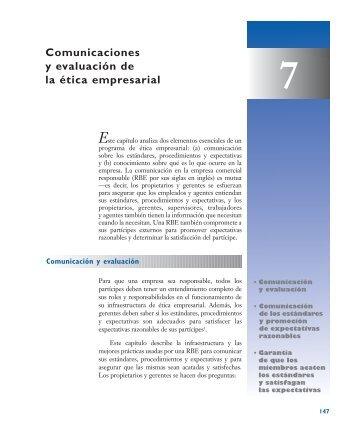 Comunicaciones y evaluación de la ética empresarial