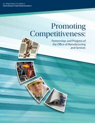 Promoting Competitiveness: - International Trade Administration