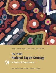 National Export Strategy 2005 - International Trade Administration