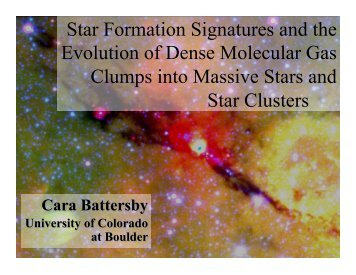 Star Formation Signatures and the Evolution of Dense Molecular ...