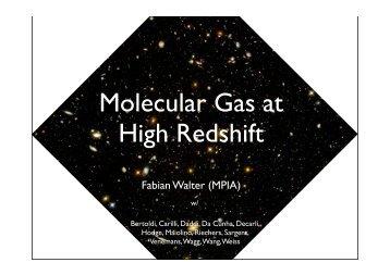 Molecular Gas at High Redshift