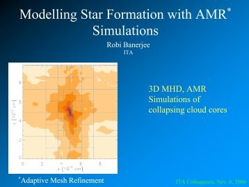 Modelling Star Formation with AMR* Simulations