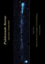 Pulsierende Sterne - Institut für Theoretische Astrophysik