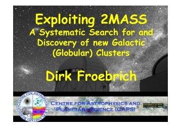 Exploiting 2MASS Dirk Froebrich