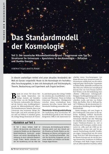 Das Standardmodell der Kosmologie, Teil 2 - Institut für ...