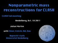 Nonparametric mass reconstructions for CLASH - Ruprecht-Karls ...