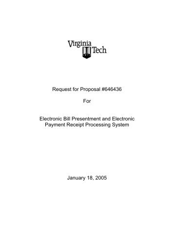 Electronic Bill Presentment And Electronic Payment Receipt RFP  Acknowledgement Receipt Of Payment