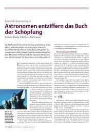 Astronomen entziffern das Buch der Schöpfung - Institut für ...