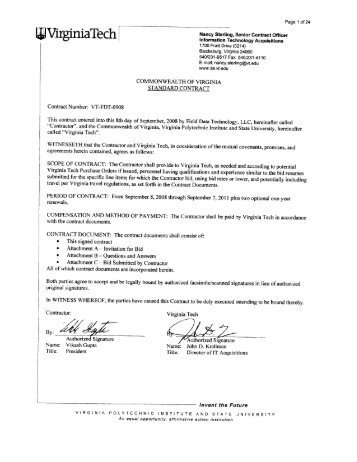 Virginia Tech Letterhead - Information Technology Acquisitions ...