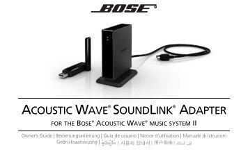 acoustic wave soundlink adapter bose rh yumpu com bose soundtouch wireless adapter setup bose soundtouch wireless adapter setup