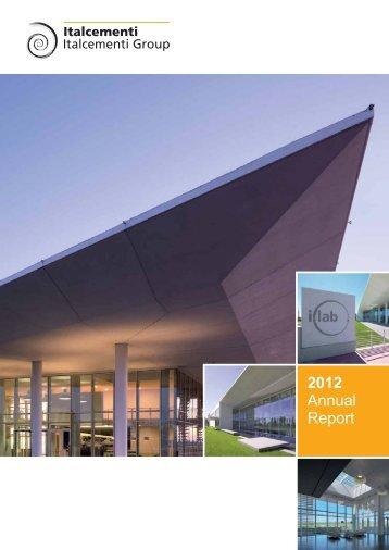 2012 Annual Report - Italcementi Group