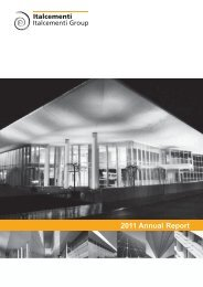2011 Annual Report - Italcementi Group